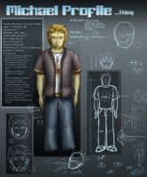 Michael Character Sheet - 1 by Omegaro