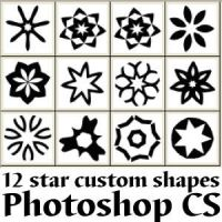 Star Photoshop Custom Shapes by Brushportal