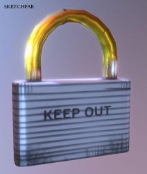 Heavy Lock (free 3d resource) by primnull