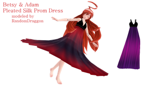 Pleated Prom Dress NOW FREE by DesertDraggon