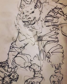 DNDDoodles: Gnoll Toll by MArchCO
