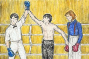 Iggy Pop and David Bowie boxing 2 by gagambo