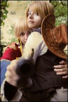 Cowboy America and Pirate England - I protect you! by SharyNyanko