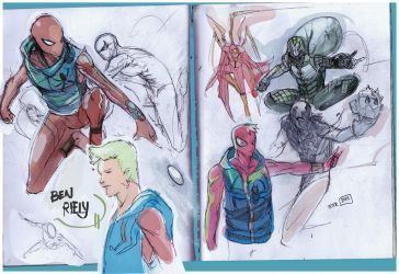 Spiderman ben riely by Peter-v-Nguyen