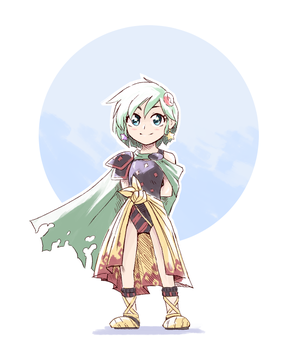 FF4 - Little Rydia by Scribblehatch