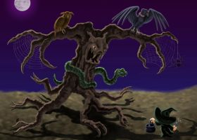 All Hallows Tree by dragynsart
