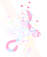 Soft Space Kitten by fawnbun