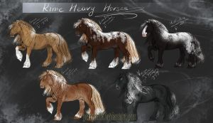 Rime Heavy Horses - Designs by Percyvelle