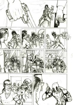 Deadpool page three of seven by LipGlossary