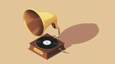 Records Player | Isometric Camera by KhaledReese