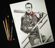 Negan - The Walking Dead by emicathe
