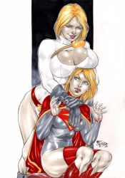 Powergirl and Supergirl by Fredbenes