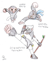 1st Prize: Fist of the Monkey by FawkesTheSkarmory