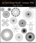 P2U - 36 Pack Shape / Spirograph / Radial Stock by Solar-Paragon