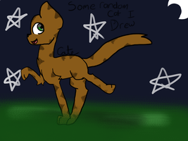 Some Random Cat I Drew by pokemonfnaf1
