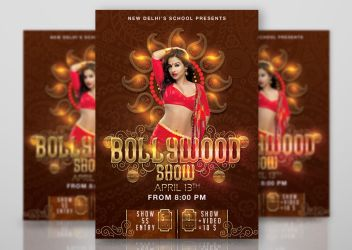 Bollywood Dancing School Show Flyer by n2n44studio