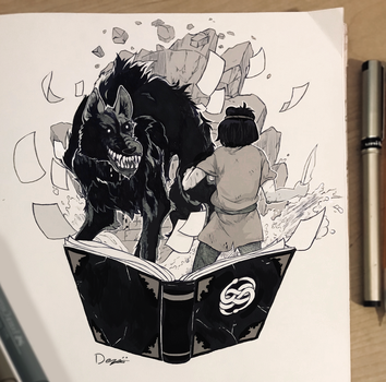 #Inktober - October 27th (2017) by D-ElaineDezso