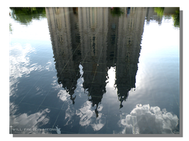 Pool Reflects Salt Lake Temple by WillFactorMedia