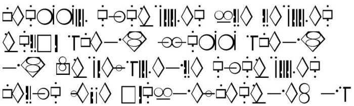 Kryptonian Writing Symbols by aurormish