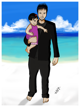 Me and My Niece Anime Style by baan-art