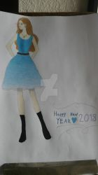 HNY Girl by FantasyFeathers