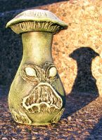 Angry Mushroom Potion Bottle by askoi