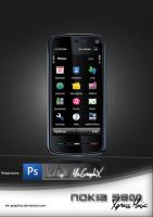 NOKIA 5800 XpressMusic DS PSD by MK-Graphics