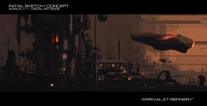 Initial Sketch - Arrival at Reactor by JamesLedgerConcepts