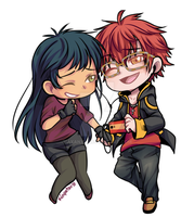 Chibi Comm || Seven and Lena by AxanXV
