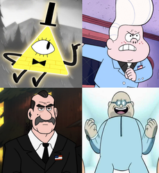 Gravity Falls: The Main Villains by Evanh123