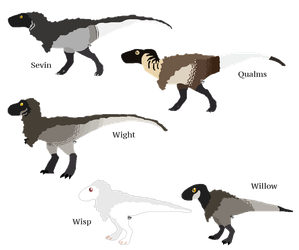 Tyrannosaurus family by QuietBlaze
