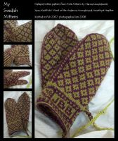 My Halland Mittens by ChocoboGoddess