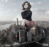 Giantess Jenna Louise - Interesting Little Bug by GiantessStudios101