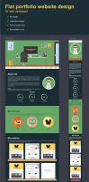 Free flat personal website by jozef89