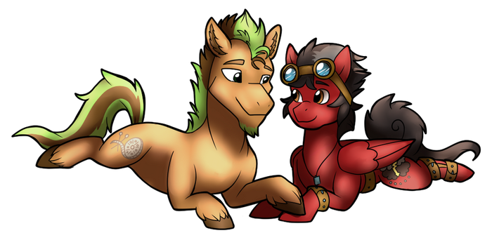 Christmas gift art for downpourpony by Eternity9