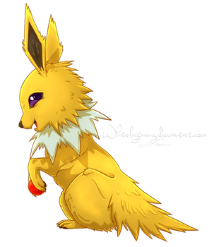 Playful Jolteon by Whiteligtning