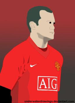 Wayne Rooney by underwaterdrawings