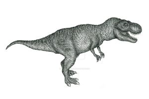 T - Rex black and white / T - Rex Blanco y Negro by dopellgersec
