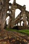 The tiles of Rievaulx Abbey. by LordLJCornellPhotos