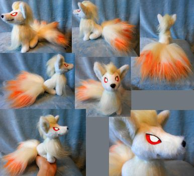 Small size Ninetails (up for sale, sitting) by Rens-twin