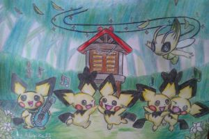 The pichu party XD by Adripika