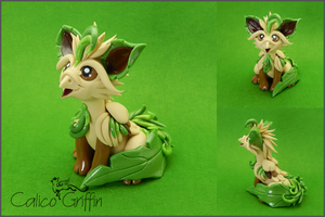 Leaffin - Pokegriff - polymer clay by CalicoGriffin
