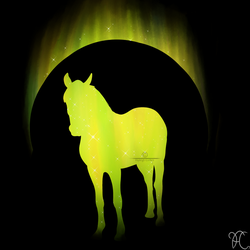 Yellow Horse Standing V.2 by DarkoriamStables