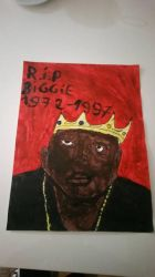 My paintings of The Notorious B.I.G. by TheBoyNamedMuzaffer