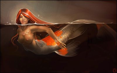 Koi mermaid by GaudiBuendia