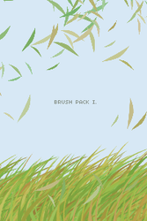 brush pack I . grass by painterlove