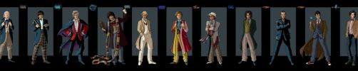 the 11 doctors by nightwing1975