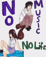No Music No Life Colored by kittenppm