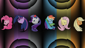 Abstract Wallpaper for Mane 6 by uxyd