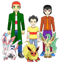 Ed's and their Partner Pokemon by DispoableButtons